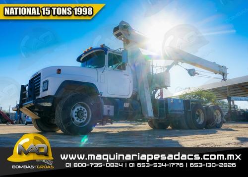 grua titan mack  national 15 tons 1998