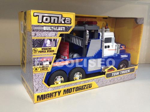 grua tonka de juguete con winch funcional - luz y sonido