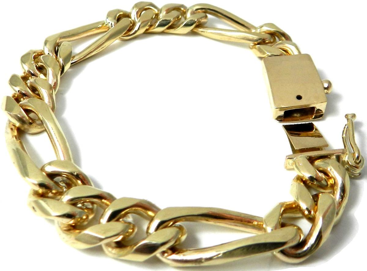 2cda9f33df25 gruesa pulsera esclava barbada cubana oro macizo 14k 40gr. Cargando zoom.