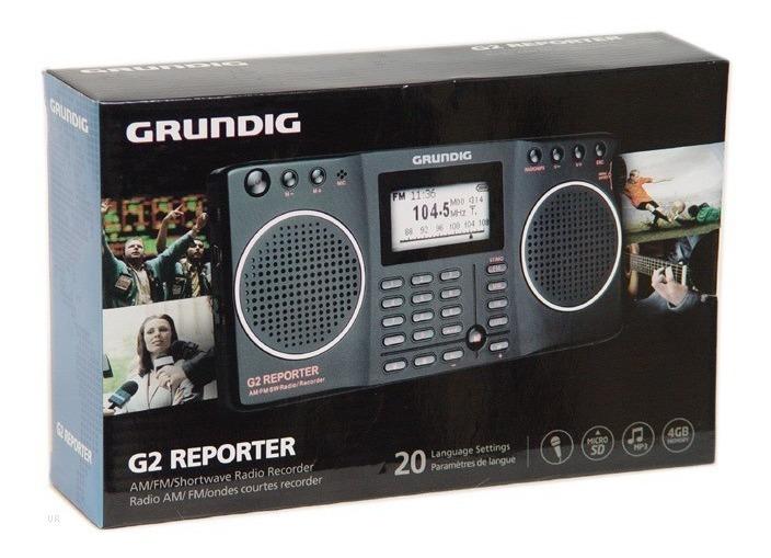Grundig G2 Reporter, Radio Am/fm/sw E Gravador Em Sd Card