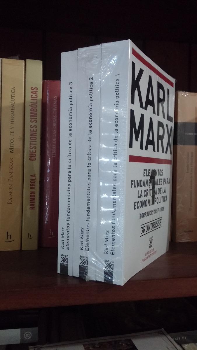 Grundisse Elementos Fundamentales Crítica Economía Karl Marx ...