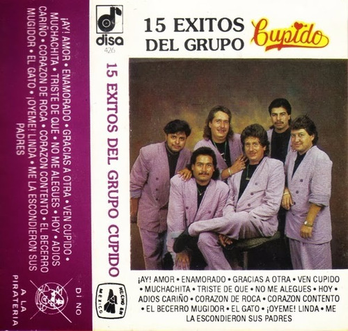 grupo cupido - 15 exitos (casete original)
