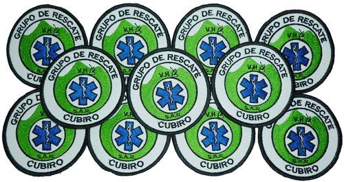 grupo de rescate cubiro distintivos bordados.
