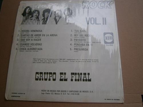 grupo el final 2o. lp los grandes exitos del rock mexico 73