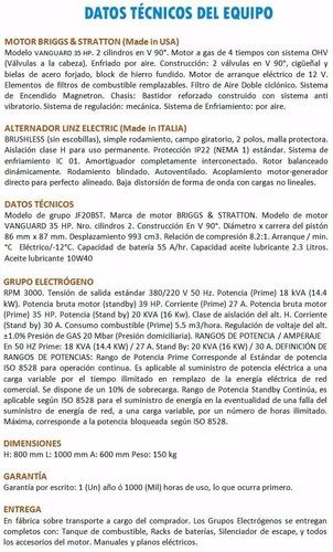 grupo electrógeno a gas 20 kva briggs&stratton importador!!