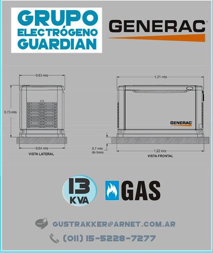 grupo electrogeno a gas generac 13 kva
