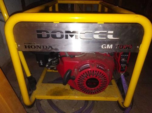 grupo electrógeno domcel gm 7000e. powered by honda