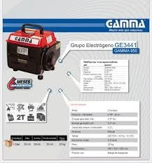 grupo electrógeno gamma 950 ge3441 generador electrico envio