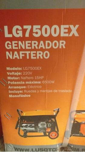 grupo electrogeno generador 6500 wats lusqtoff lg7500ex