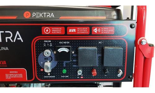 grupo electrogeno generador electrico pektra 6.5kva rueda