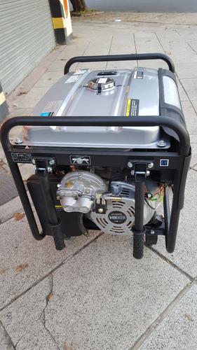 grupo electrógeno generador gas-nafta dual 8kva hyundai