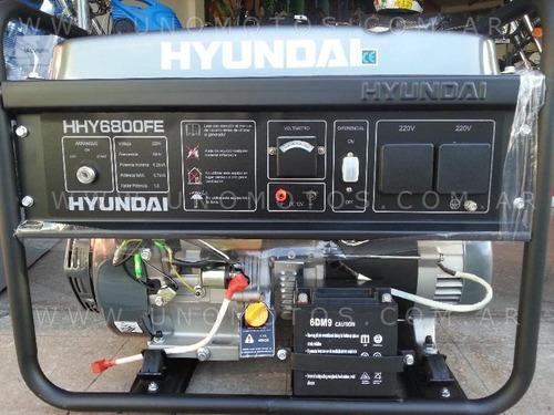 grupo electrogeno generador hyundai 6800 watts 6,6 kva 13 hp