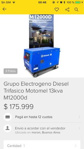 grupo electrógeno motomel diésel 13 kva