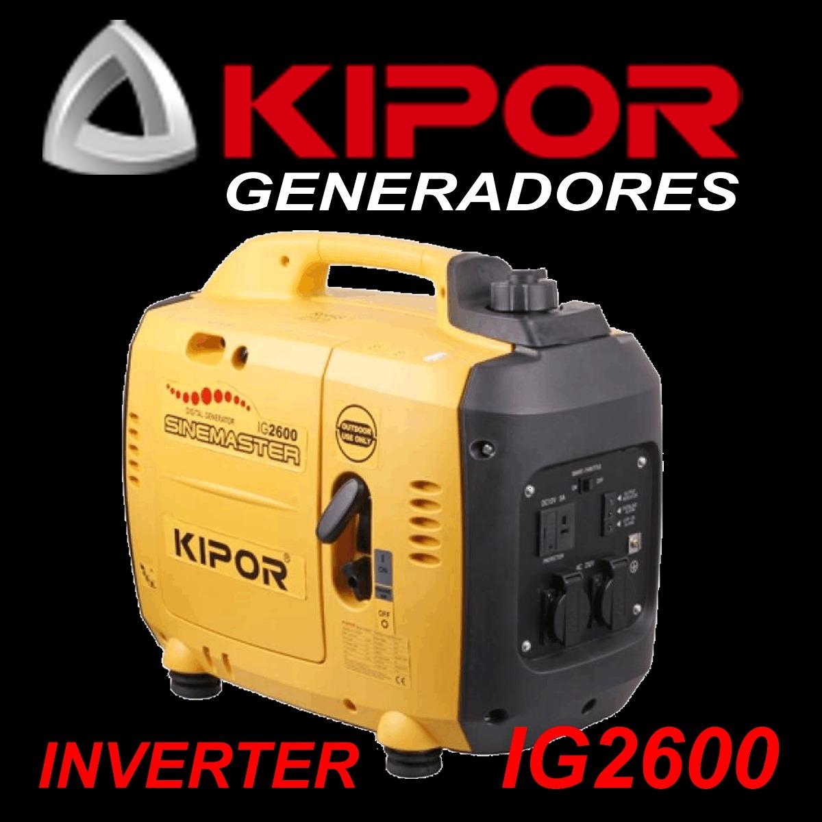 Grupo Generador Kipor Ig2600 Original Inverter T/ Honda Eu30