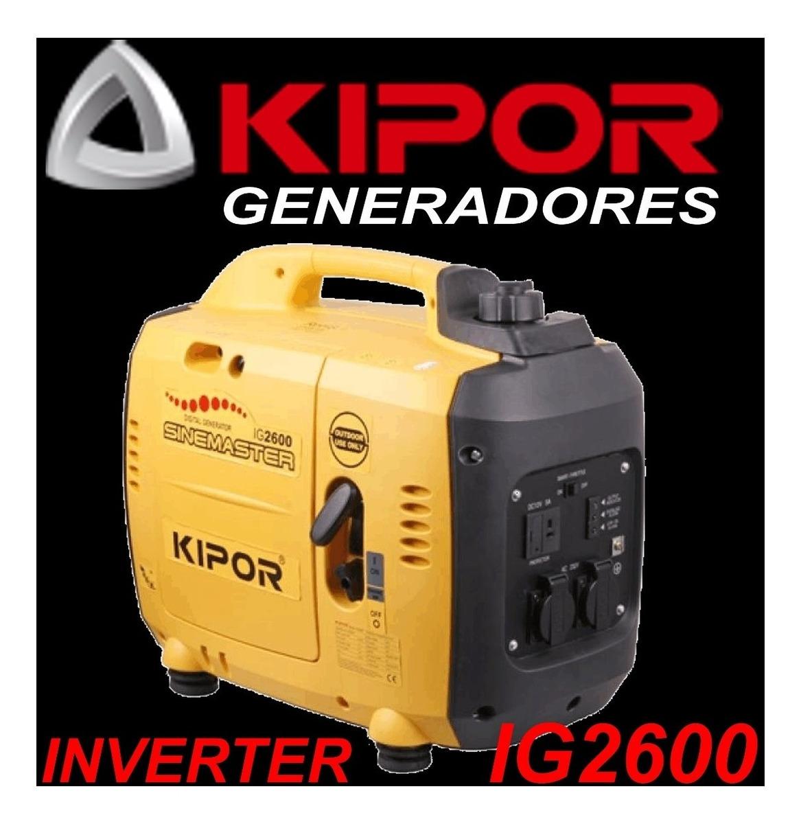 Grupo Generador Original Inverter Kipor Ig2600 T/ Honda
