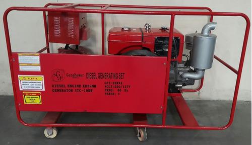 grupo gerador aberto 22 kva a diesel 220v trifásico novo
