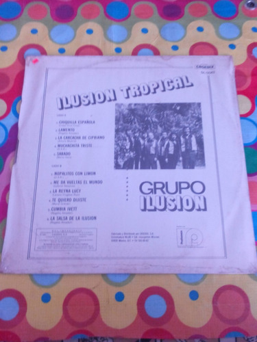 grupo ilusión lp ilusión tropical 1983. sellado.