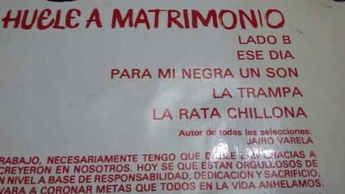 grupo niche me huele a matrimonio lp vinilo salsa