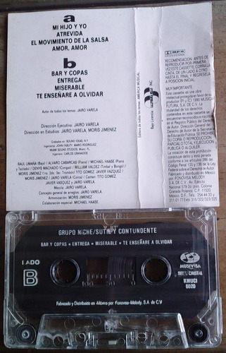 grupo niche sutil y contundente cassette rarisimo 1990  sp0