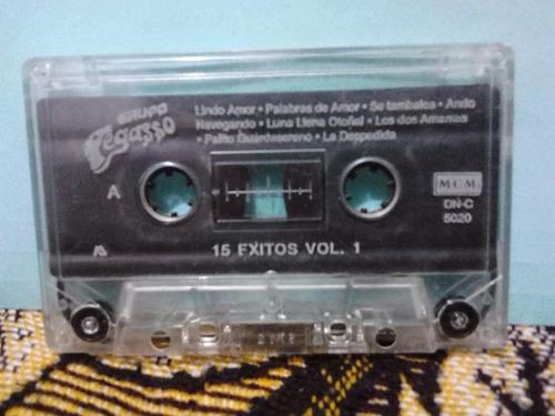 grupo pegasso - 15 exitos vol.1 (casete original mcm)