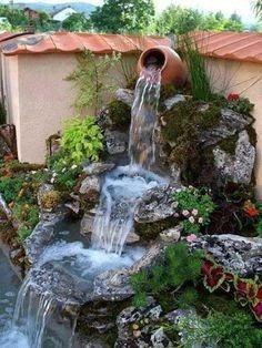 grutas,cascadas, jardines, césped  y mantenimientos, plantas