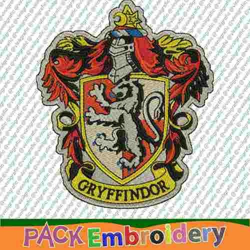 gryffindor escudo diseños bordados brother