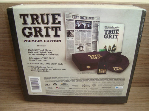 gs true grit - bravura indômita / limited edition wooden box