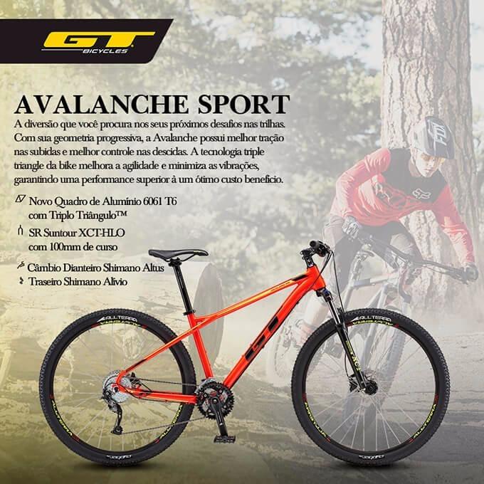 64168d292d1 Gt Avalanche Sport 2018 Vermelha Tamanho M - R$ 3.199,00 em Mercado Livre