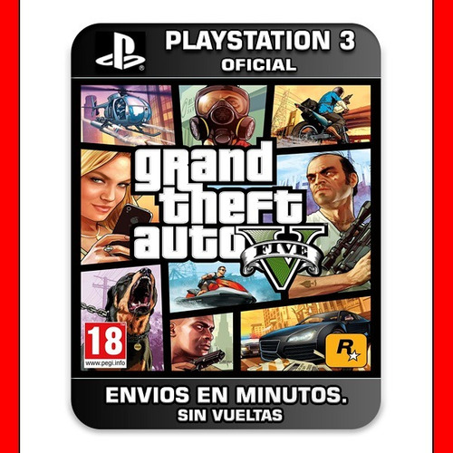 gta 5 gta v ps3 :: digital :: | original subtitulado español