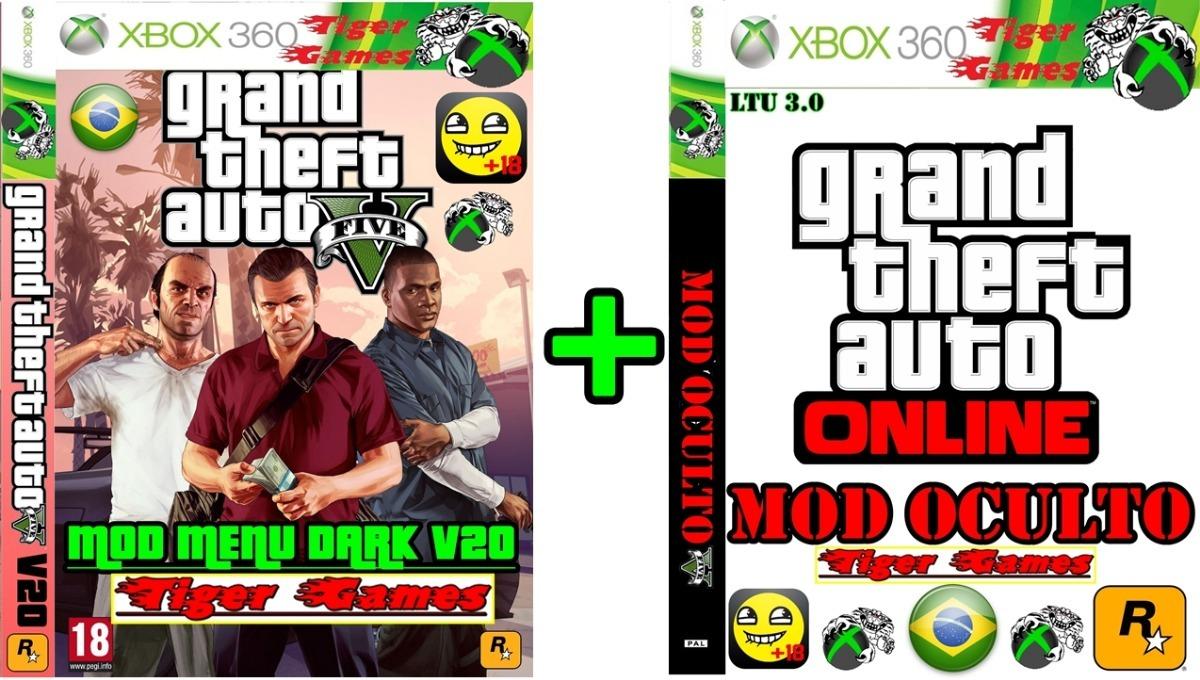 Gta 5 Mod Menu Dark V20 + Mod Oculto 2018 Xbox 360 - R$ 30,00 em
