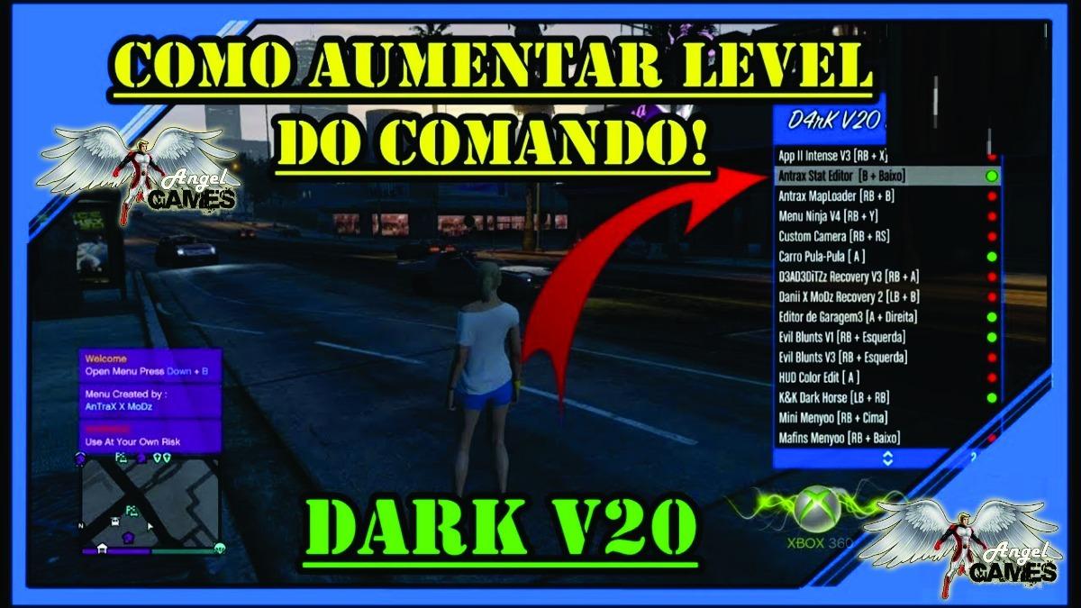 Gta 5 Mod Menu Dark V20 Para Xbox 360 Lançamento 2019