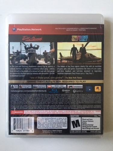 gta grand theft auto episodes from liberty city - ps3 fisica