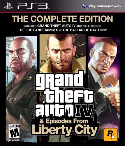 gta iv complete edition - 3 jogos - ps3 - original - psn