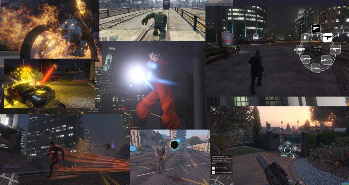 Gta Mods Julionib - Venom, Magneto, Thanos, Ironman, Flash++