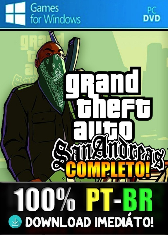 Gta San Andreas 100% Pt-br! Pc! Versão Completa! + Save Game