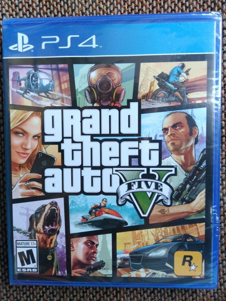 Gta V Grand Theft Auto V Juego Ps4 Nuevo Y Sellado S 110 00 En