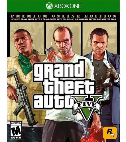 gta v : premium online edition- juego fisico xbox one