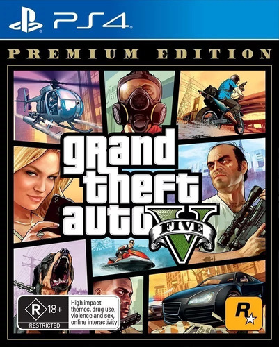gta v ps4 grand theft auto v premium edition sellados fisico