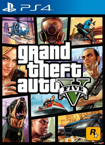 gtav ps4 grand theft auto v juego fisico