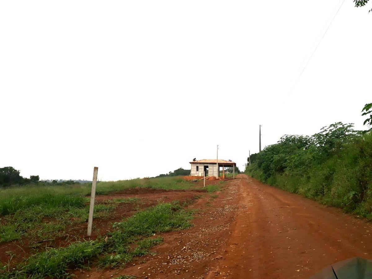 g.terrenos 1000 m² c/ portaria, ruas cascalhadas 100% plaino