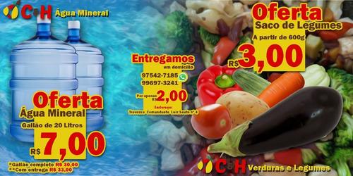 àgua e verduras