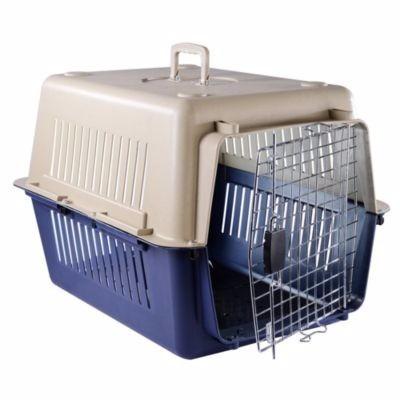 guacal mediano para perros y gatos talla m puerta metalica