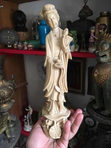 guan yin kuan yin figura antigua deidad asiática resina