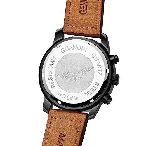 Reloj Lumi Hombres Cuero Cronógrafo Cuarzo Guanqin Gs19037fs ZOkTlPwXiu