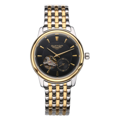 guanqin mecánico watches impermeable negocios relojes de pu