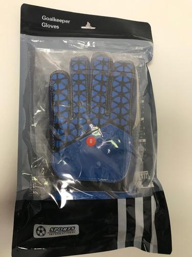 guante arquero con ferula azul talla 8/ comercial greco spa
