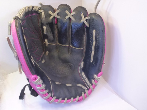 guante beisbol louisville niña gris con rosa 10.5  derecho