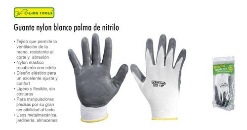 guante blanco con palma nitrilo seguridad multiusos