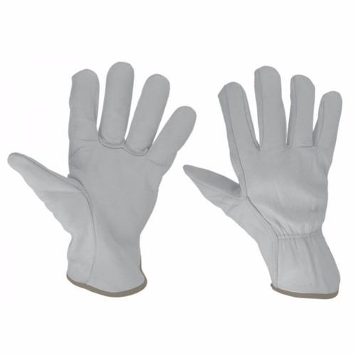 guante blanco en piel de res para electricista / unitalla