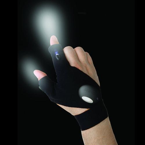 guante con iluminación led para trabajo con poca luz